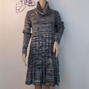 Calvin Klein cowl neck knit dress long sleeves 302